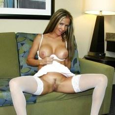 mature silk stocking models